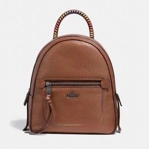 Coach andi backpack with rainbow stitching
